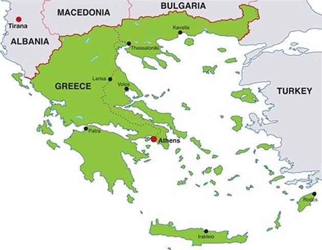 Karte Griechenland.Karte Von Griechenland