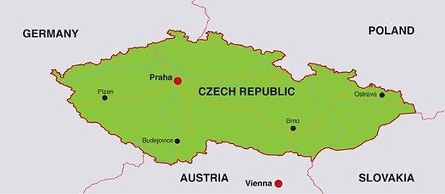 Karte Tschechien.Karte Von Tschechien