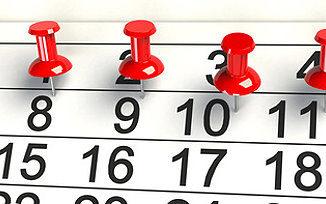 Kalender mit Urlaubstagen