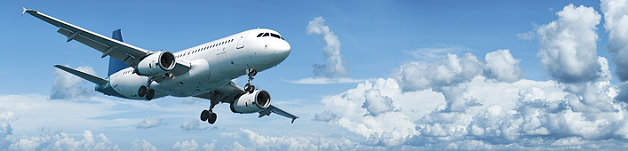 Ein Flugzeug am Himmel